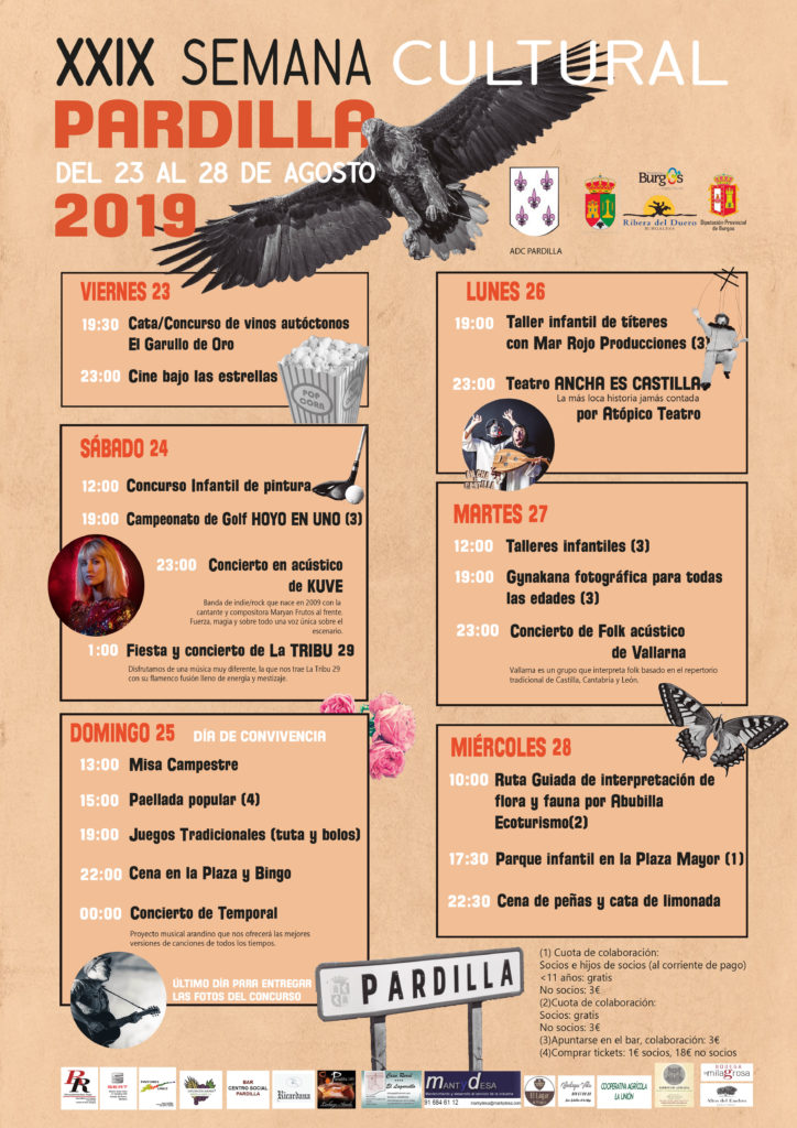 semana cultural de pardilla 2019