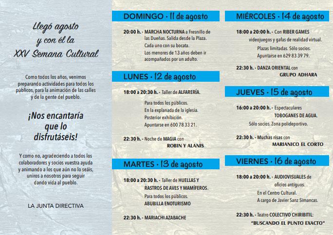 semana cultural de Fuentespina