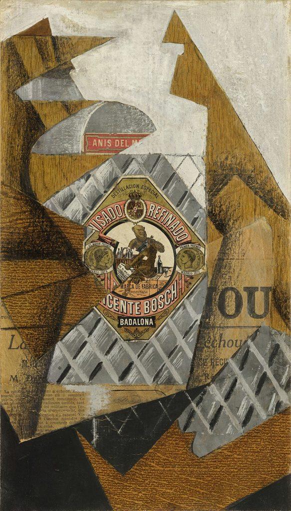 Juan Gris - La botella de anís