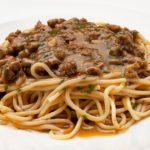 Espaguetis con Salsa Española