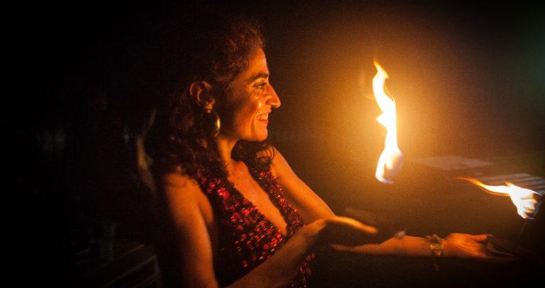 Dulzaina, Flamenco y Danza con Fuego